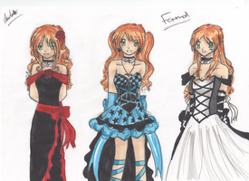 ::Cassies Formal Outfits:: by Kairi-Chaan