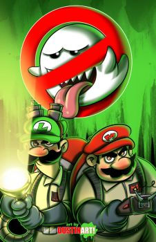 Happy Halloween from the Mario Bros Busters by DustinEvans