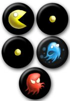 Pac-Man Buttons by e-tahn