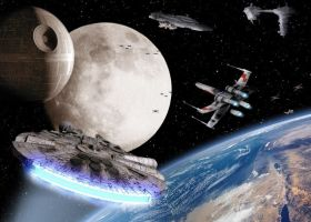 The moon of Star Wars by levydesign