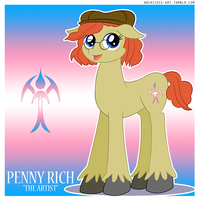 Penny 'The Artist' by AniRichie-Art