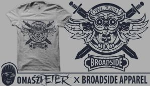 BroadSide Owl Shirt by OmaszDesign