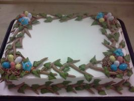 Figure Piping: Birds Nest Cake by MooreCake