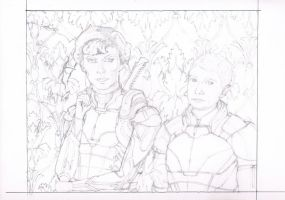 Let's Draw Sherlock x Mass Effect Crossover WIP 5 by mythlover20