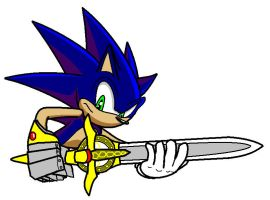 Sonic and the sword by Sweecrue