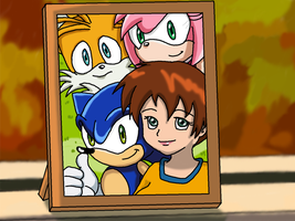 Me in Sonic X -photo-frame- by AishaPachia