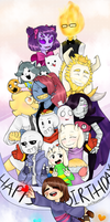 .:-!Happy 1st Anniversary Undertale!-:. by owoSesameowo