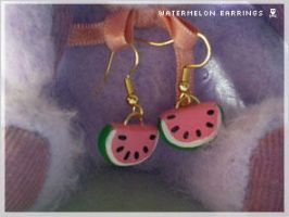 DIY Watermelon Earrings 2 by numb-existence