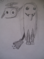 Ghost Chibi-robo and Telly by 222222555555