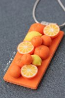 NL Rectangle Orange Lemon by PetitPlat