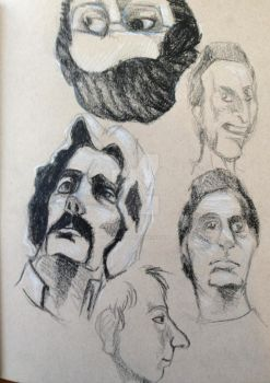 Sketching faces from the 70's by Kalavati-09