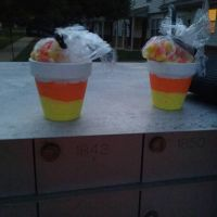 Candy Corn Pots by Hraygurl