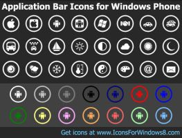 Application Bar Icons for ... by Ikonod