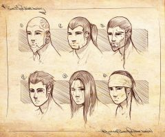 Faces design 2 sketches by Ranoartwork
