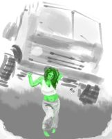 She-Hulk sketch by popicok