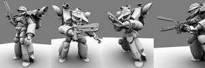 Mobile Infantry Marauder Rigged by thefirewarriors