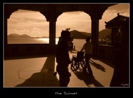the Sunset by girl