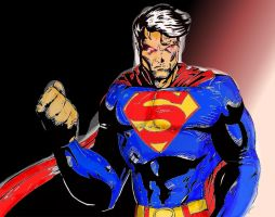 Superman Coloured by Colour-of-Dreams
