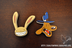 Sam and Max Fridge Magnets by M2Grzegorczyk