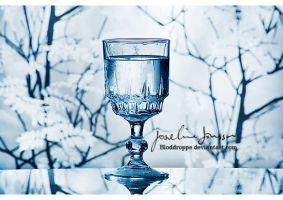 A glass of water. by Bloddroppe-nature