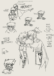 Digital Lineart Collection: Diether and Hayate by UltraLiThematic
