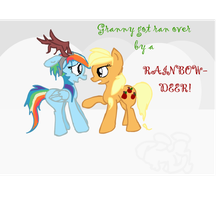 Granny Smith got ran over by a Rainbow-deer by Sasifrass
