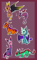 [ OPEN ] Chibi Creature Adopts o1 [5/6] by Sheketai-Adopts