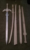 Swords step one by ElizzaBeast