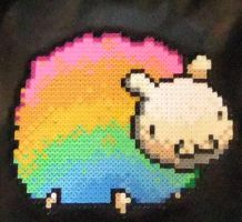 Rainbow Perler Sheep by Yelenna