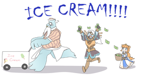 SMITE-Ice cream for the Lord of Time by Neko-mirichan