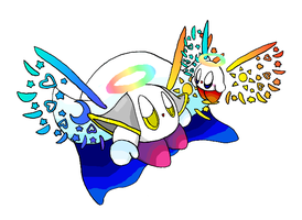 Purity Kirby and Metaknight by MoonWarriorAutumn