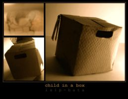 child in a box art by isip-bata