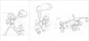 Hitmonchamp old sketches by Esepibe