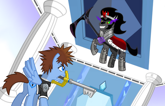 Sora vs. King Sombra by JazzyTyfighter