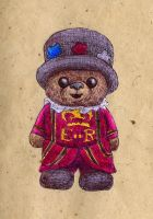 Beefeater Bear by bluefootednewt