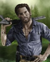 Shane Walking Dead Full Color by Cypher-Black