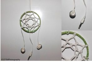Earphones Dreamcatcher by CFTMPhotography