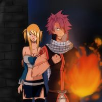 NaLu - I will protect you, Lucy. by Owocowe