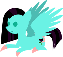 Simple Midnight Rose Vector by demonreapergirl