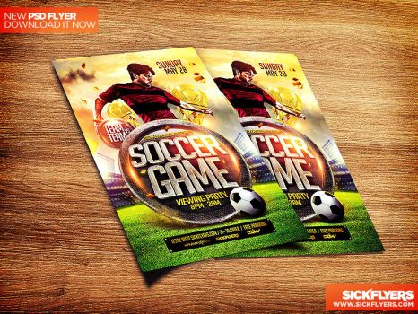 Soccer Flyer Template PSD by Industrykidz