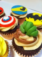 Hulk Smash- Superhero Cupcakes by Corpse-Queen