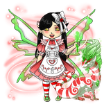 Snowdoll's Peppermint/Holiday Familiar Outfit by ItsAndromeda