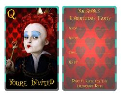 Red Queen Invitation by EpikAsia