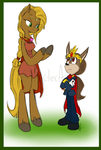 Lady Anabeth and High King Spike by KicsterAsh
