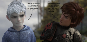 Jack Frost VS Older Hiccup by DarkMousyxKagome