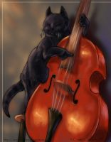 Pumin on the Double Bass by soulofwinter