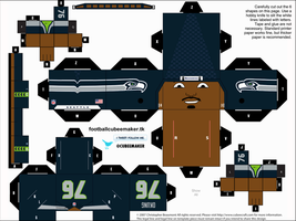Russell Okung Seahawks Cubee by etchings13