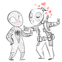 Spideypool by sesshyfanchick
