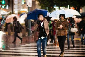 Rain at Shibuya Crossing - I by HampusAndersson