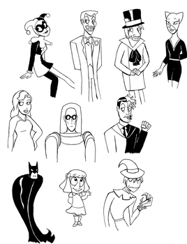 Batman Cartoons by HyperSpaceOddity